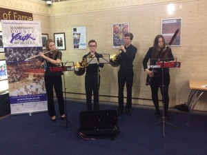 Pre-concert music in the reception hall